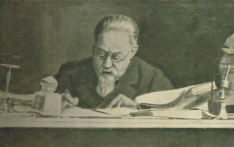 Чезаре Ломброзо за работой