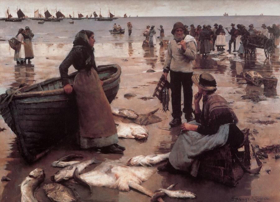 Стенхоп Адександр Форс, «Рыбная торговля на Корниш-Бич»