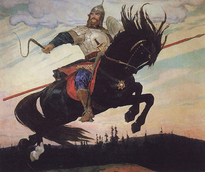 В. Васнецов, «Богатырский скок», 1914 г.