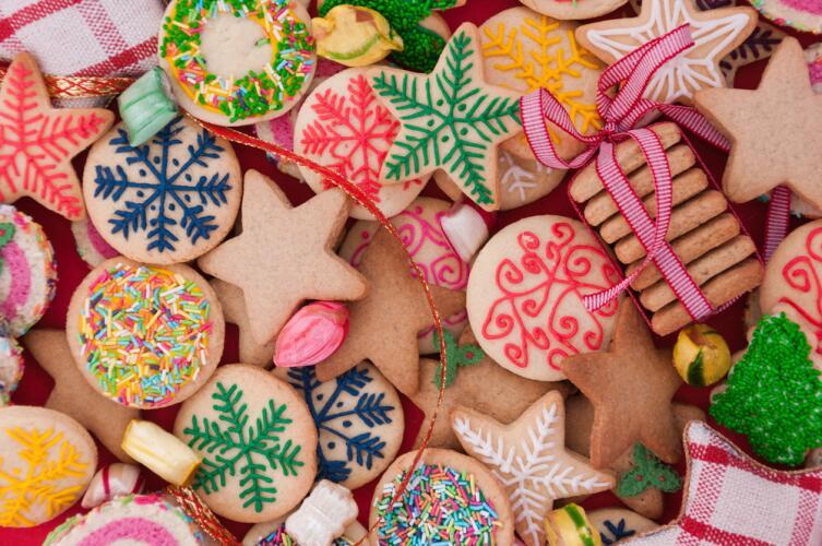 Печенье, которым украшали елки, символизировало евхаристию