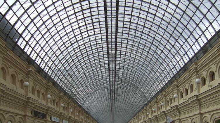 Металло-стеклянные перекрытия ГУМа конструкции Шухова, Москва, 2007 г.