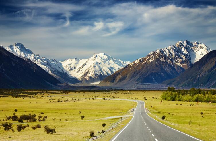 Южные Альпы в Новой Зеландии
