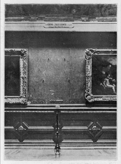 1911 г., пустое место на стене, где должна была висеть картина
