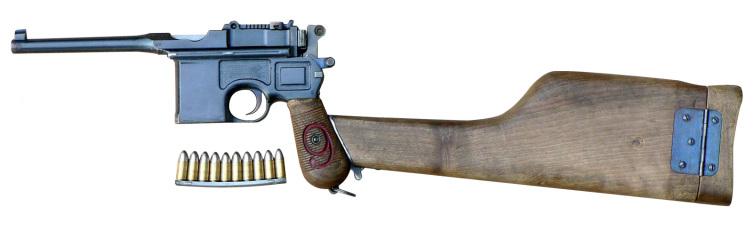 9-мм пистолет Маузер К96 с кобурой-прикладом