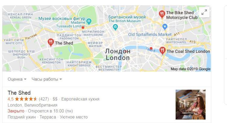 Оценка ресторана «посетителями»