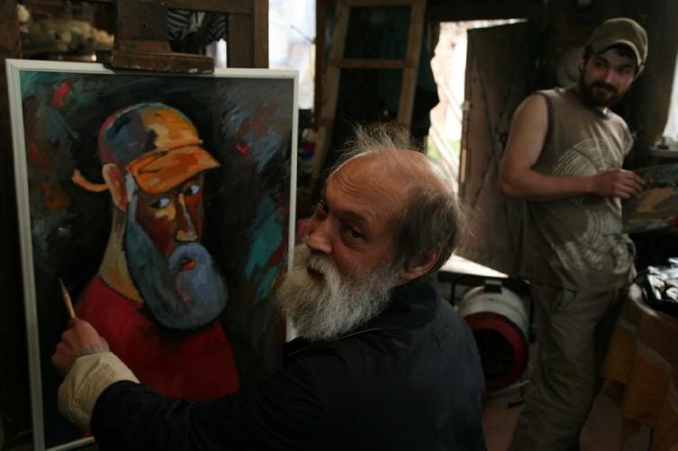 Г. Архиреев на съемках фильма о себе. Возможно, последняя его фотография