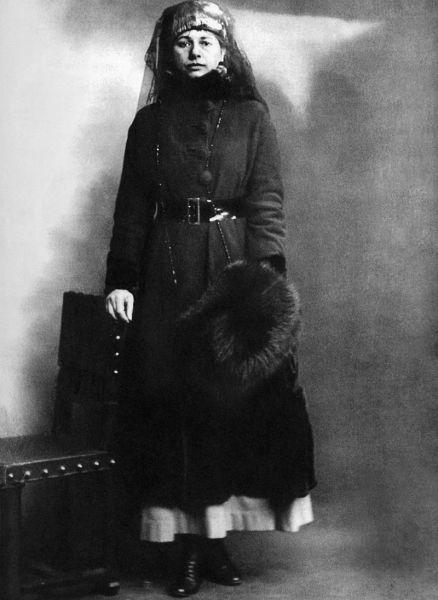 Мата Хари в день своего ареста, 13 февраля 1917 г.