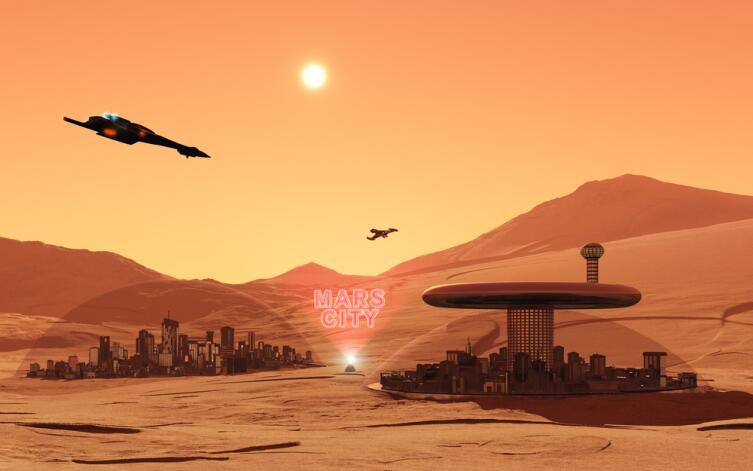 Фантастический марсианский пейзаж