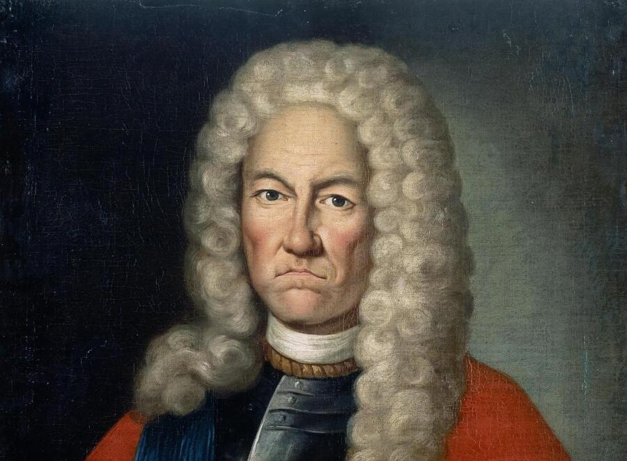 Автор неизвестен, «Портрет Якова Вилимовича Брюса» (фрагмент), первая половина XVIII в.