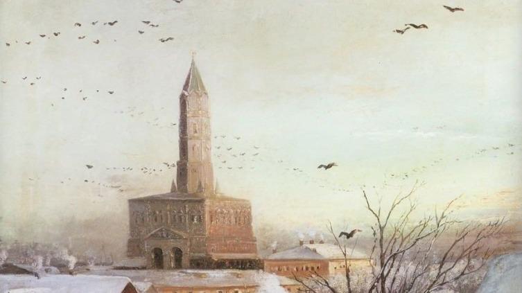 А. К. Саврасов, «Сухарева башня в Москве» (фрагмент), 1872 г.