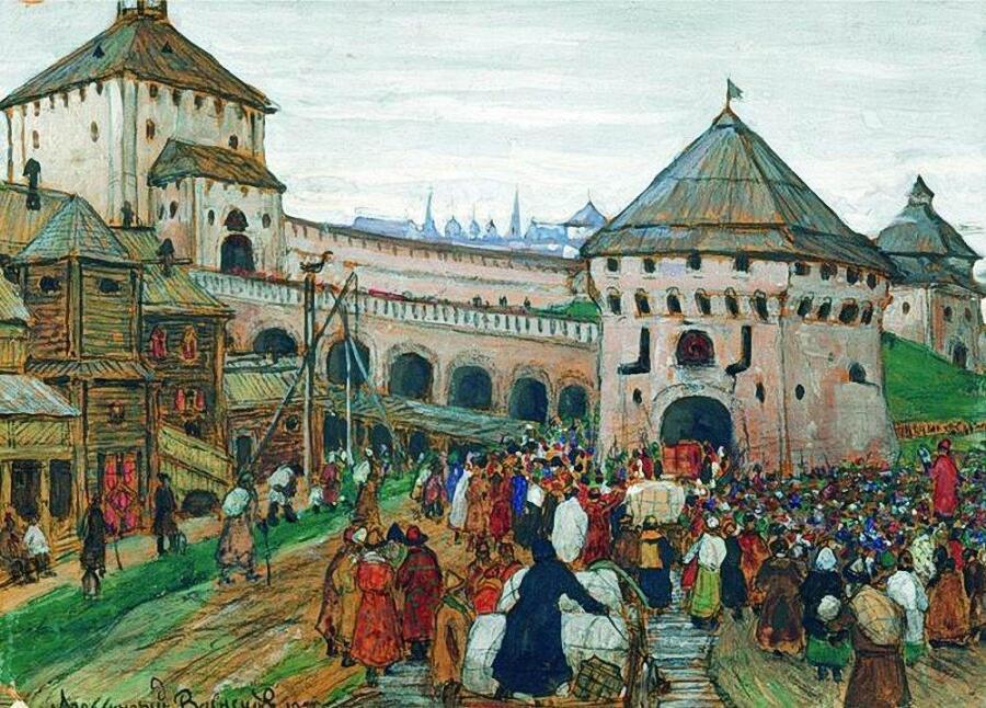 А. М. Васнецов, «Старая Москва»