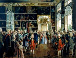 Как чествовали императрицу Екатерину II вельможи?