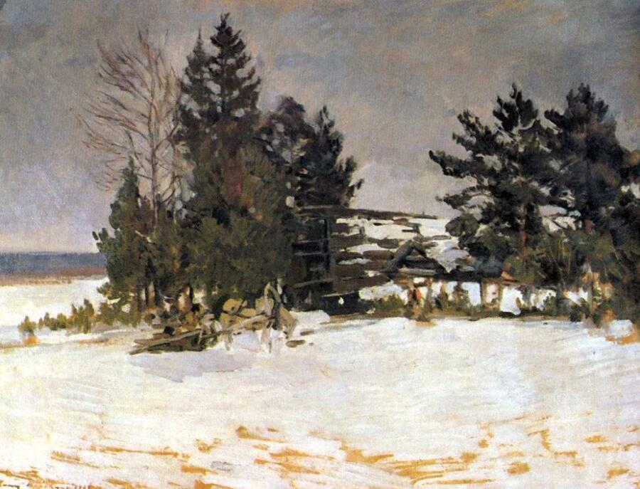 К. А. Коровин, «Зима» <br />