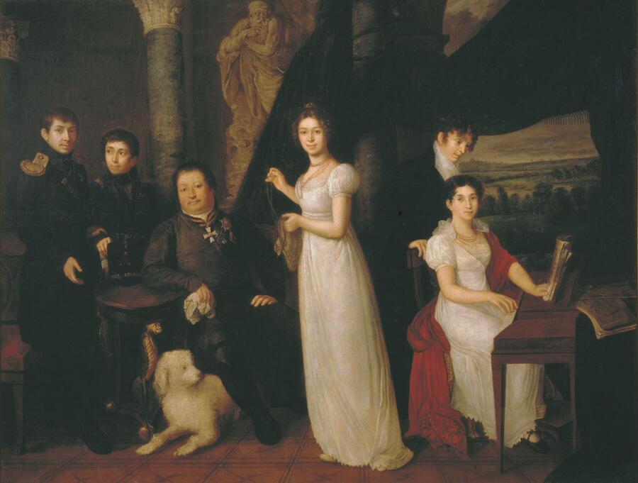 В. А. Тропинин, «Семейный портрет графов Морковых», 1813 г.