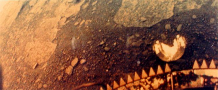 Фотография поверхности Венеры, сделанная с аппарата