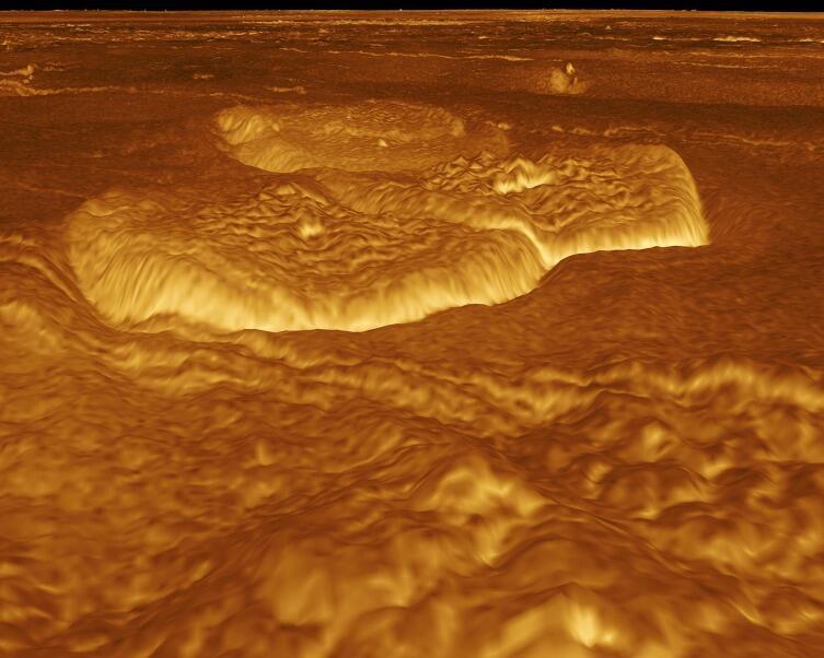 3d-модель поверхности Венеры