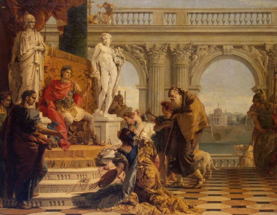 Тьеполо Джованни Баттиста, «Меценат представляет императору Августу свободные искусства», 1743 г.