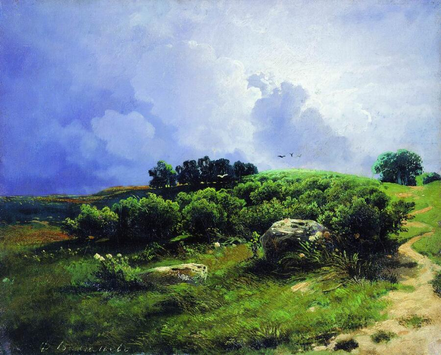 Ф. А. Васильев, «Перед грозой», 1869 г.