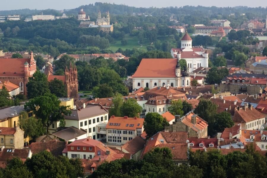 Вид на старый Вильнюс