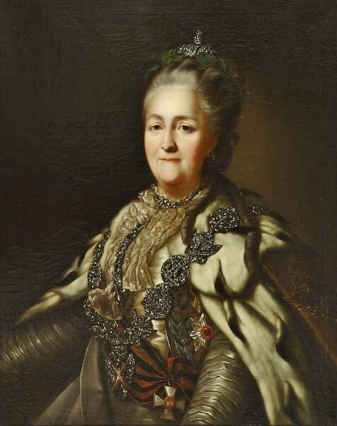 Портрет Екатерины II кисти неизвестного художника