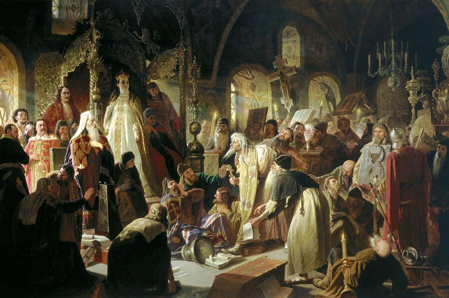 Василий Перов, «Никита Пустосвят. Спор о вере», 1880—1881 гг.