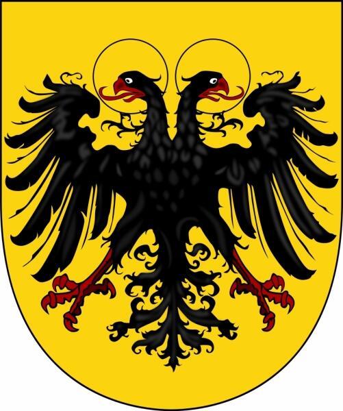 Двуглавый орёл на гербе Священной Римской империи