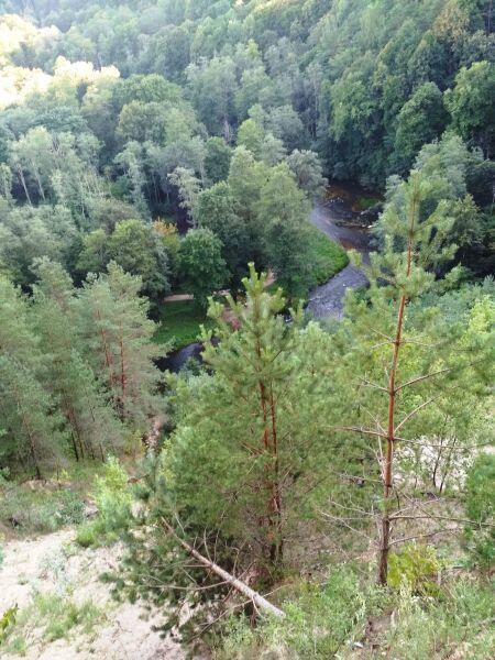 Вид с моста на долину реки Вильня