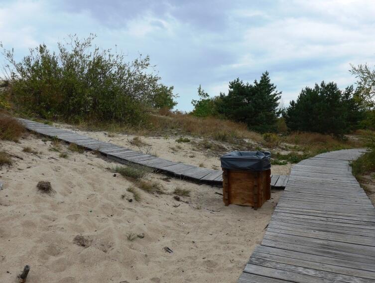 В дюнах мосточки для пешеходов