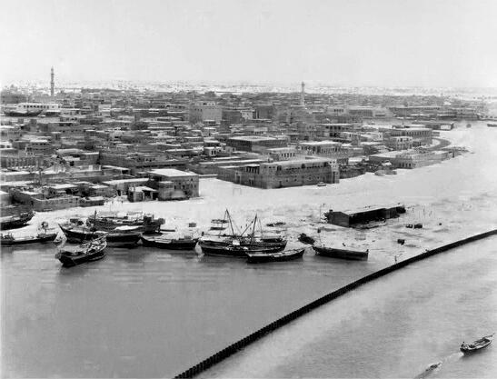 Район Дейра на берегу лимана Дубай-Крик в 1960-х годах