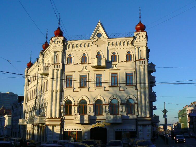 Дом Кекина, Казань, построен в началеХХ в. в стиле эклектики