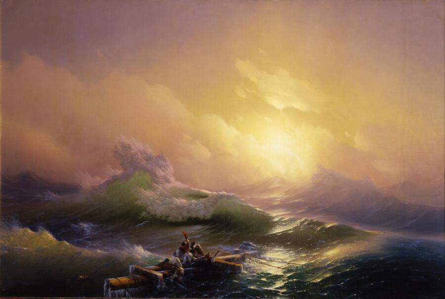 И. К. Айвазовский, «Девятый вал», 1850 г.