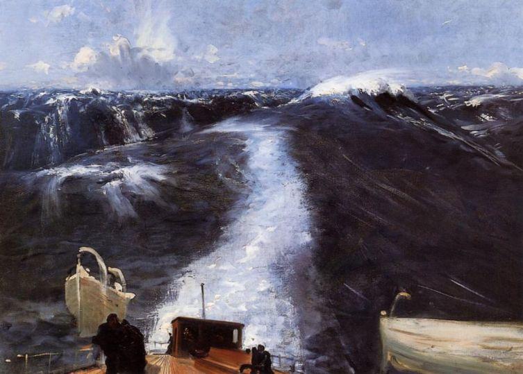 Джон Сингер Сарджент, «Буря на Атлантическом океане», 1876 г.
