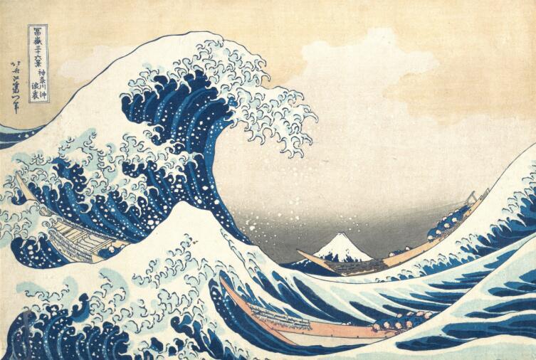 Кацусика Хокусай, «Большая волна в Канагаве», 1832 г.