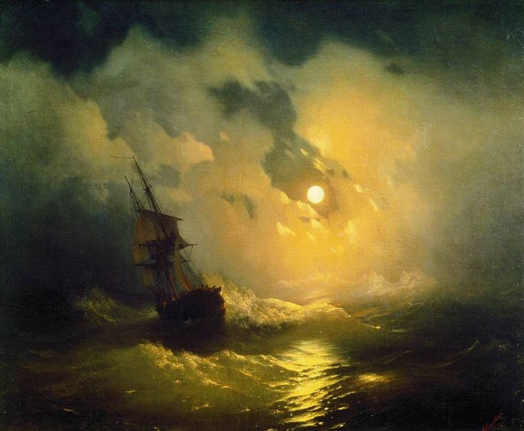 И. К. Айвазовский, «Буря на море ночью», 1849 г.