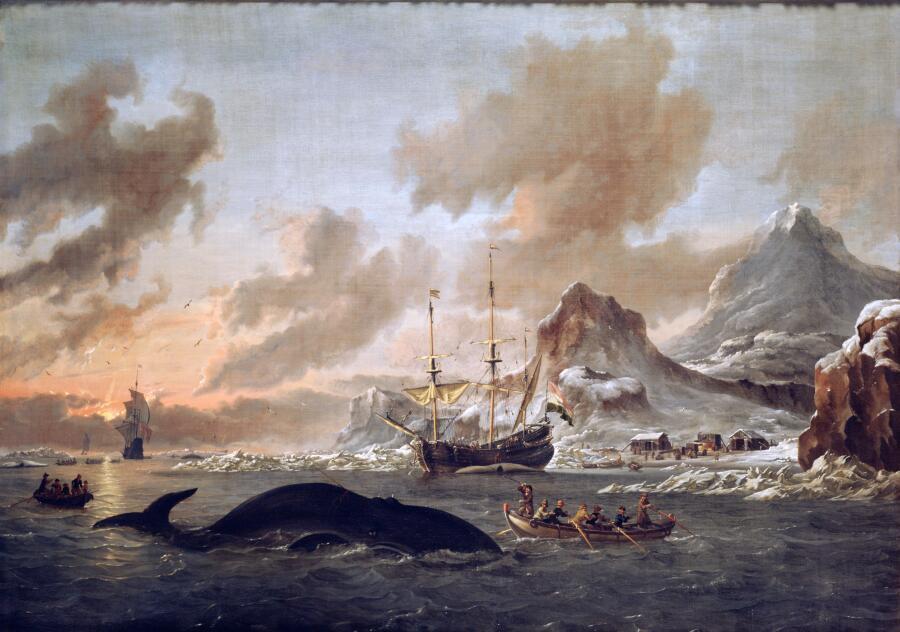 Абрахам Сторк, «Голландские китобои возле Шпицбергена», 1690 г.