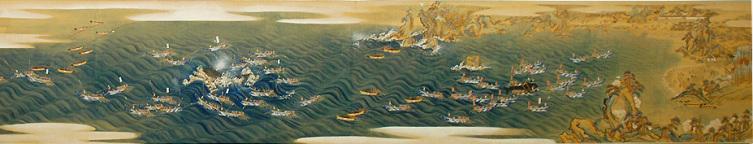 Картина XIX век, «Загон китов в районе Тайдзи. Период Эдо»