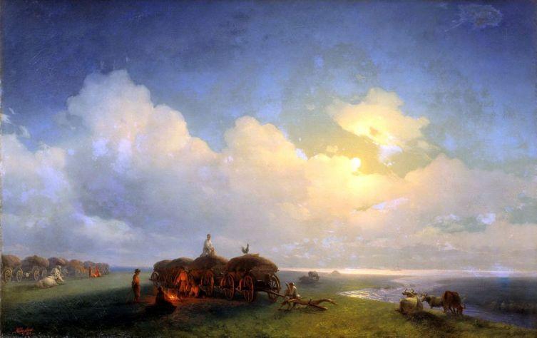 И. К. Айвазовский, «Чумаки на отдыхе», 1885 г.