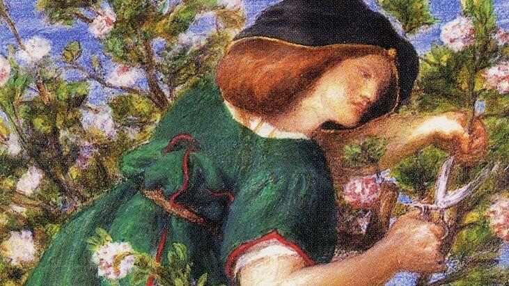 Данте Габриэль Россетти, «Садовница» (фрагмент), 1864 г.