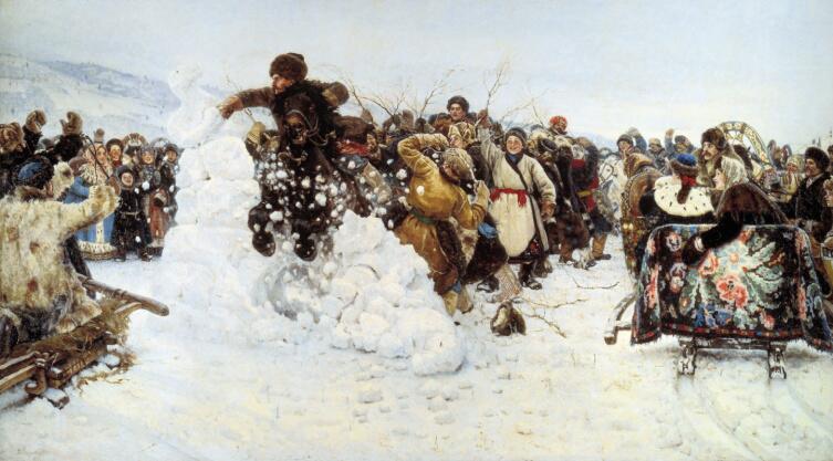 В. И. Суриков, «Взятие снежного городка», 1891 г.