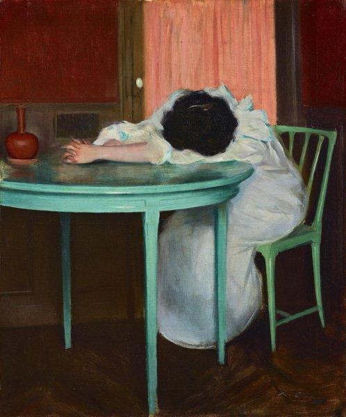 Рамон Касас Карбо, «Усталая», 1900 г.