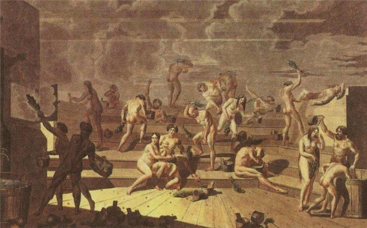 Е. М. Корнеев, «Русская баня», 1812 г.