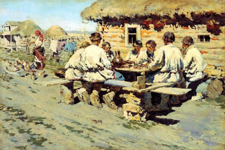 С. А. Виноградов, «Обед работников», 1890 г.