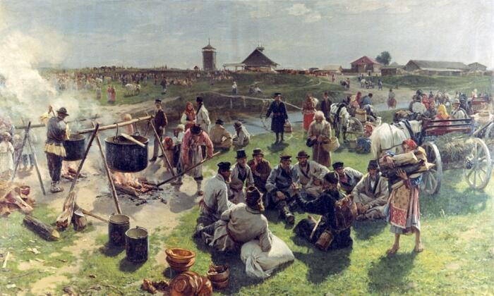 И. М. Прянишников, «Сельская братчина», 1890-е гг.