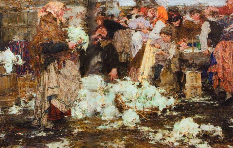Н. И. Фешин, «Капустница», 1909 г.