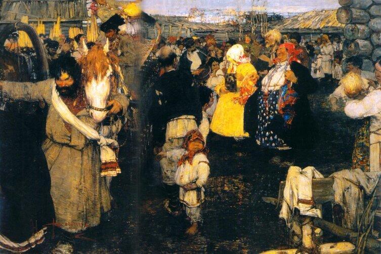 Н. И. Фешин, «Черемисская свадьба», 1908 г.