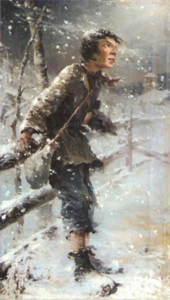 Н. И. Фешин, «Беспризорник», 1890-е гг.