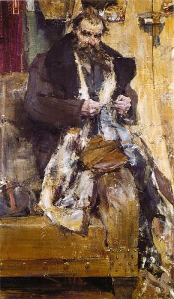 Н. И. Фешин, «Портрет отца», 1918 г.