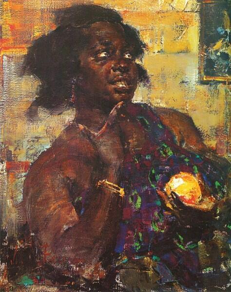 Н. И. Фешин, «Негритянка с апельсином», 1923 г.