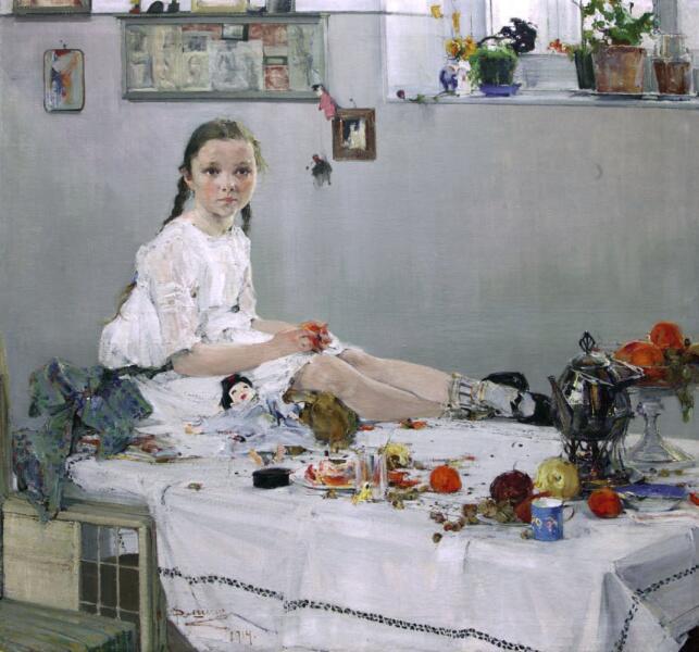 Н. И. Фешин, «Портрет Вари Адоратской », 1914 г.