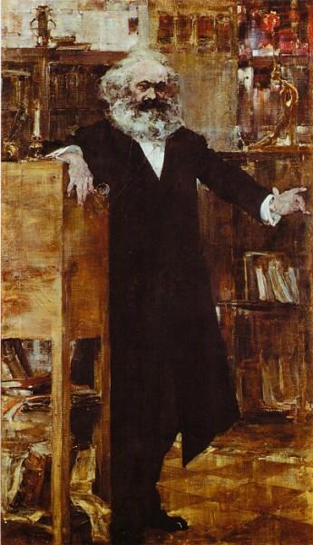 Н. И. Фешин, «Портрет Карла Маркса», 1918 г.